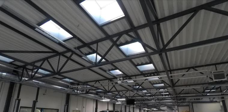 How rooflight area affects light levels, energy costs and CO2 emissions